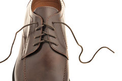 Man's shoes from a brown leather Stock Photo