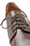 Man's shoes from a brown leather Royalty Free Stock Images