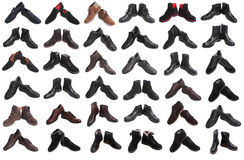 Man's shoes collage Royalty Free Stock Photo