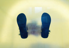 Man's shoes feet Stock Images