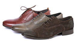 man s shoes stilfulla tre Royaltyfri Fotografi