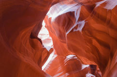 Man's Silhouette in Upper Antelope Canyon Royalty Free Stock Images