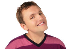 Man`s sly smile Stock Photography