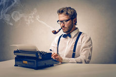 Man smoking Stock Images
