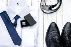 Man's style accessories. Royalty Free Stock Photo