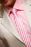 Man's style. suit, shirt and necktie with striped Stock Photography