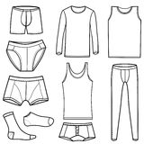 Man's underwear vector Royalty Free Stock Photos