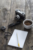 Man's  various personal items Stock Image