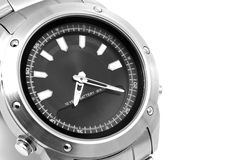 Man's watch close up. Royalty Free Stock Images