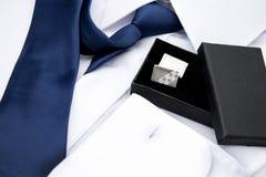 Man's white shirt. Royalty Free Stock Photography