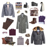 Man's winter clothes royalty free stock image