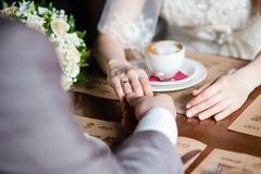 Man's and woman's hands Royalty Free Stock Photography