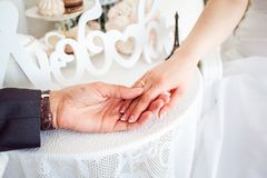 Man's and woman's hands Royalty Free Stock Images