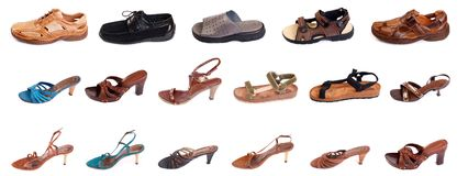 Man's and woman shoes Royalty Free Stock Images
