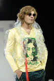 Man's youth fashionable style Lennon Royalty Free Stock Images