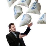 Man and sacks Royalty Free Stock Photo