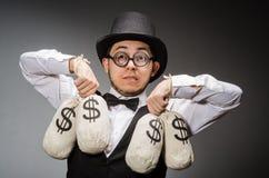 Man with sacks Stock Photos