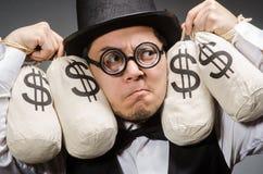 Man with sacks Royalty Free Stock Image