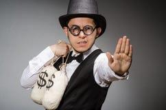 Man with sacks Royalty Free Stock Photos