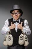 Man with sacks Royalty Free Stock Photo