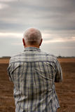 Man in sad  autumn day Royalty Free Stock Images