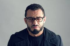 Man with sad expression Stock Photo