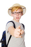 Man in safari hat in hunting Stock Images