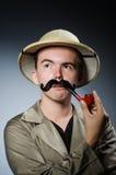 Man in safari hat Stock Photos