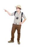 Man in safari hat Stock Image
