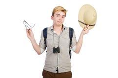 Man in safari hat Royalty Free Stock Photo