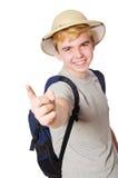 Man in safari hat Royalty Free Stock Images