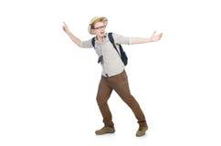 Man in safari hat Stock Images