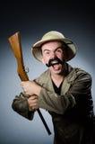 Man in safari hat Stock Photography