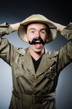 Man in safari hat Stock Photos