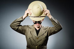 Man in safari hat Royalty Free Stock Photos