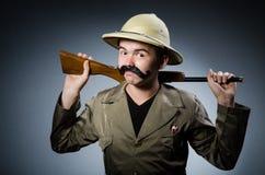Man in safari hat Royalty Free Stock Photos