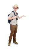 Man in safari hat Royalty Free Stock Image