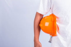 Man and safety equipment. Stock Photography