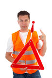 Man in safety vest Royalty Free Stock Photography