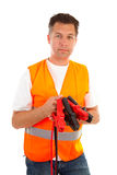 Man in safety vest Stock Image