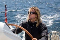 Man sailing Royalty Free Stock Photography