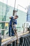 Man in sailor uniform Stock Images