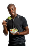 Man With Salad Royalty Free Stock Photography