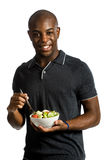 Man With Salad Royalty Free Stock Images