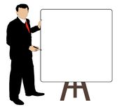 Man Sales Meeting. Business man at demo board durning a meeting Royalty Free Stock Photos