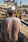 Man with salted back. Salted back and shoulders of a man in a salt resort Royalty Free Stock Photography