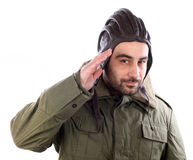 Man saluting Stock Photography