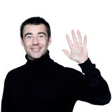 Man saluting greting high-five Royalty Free Stock Photo