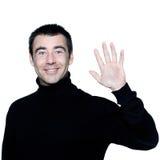 Man saluting greting high-five Royalty Free Stock Photo