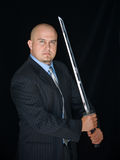 Man With Samurai Sword Stock Images